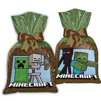 Sacola de Festa para Lembrancinhas Minecraft - 8 unidades