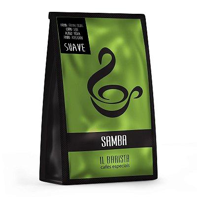 SAMBA - Café especial orgânico com corpo suave, acidez média, aroma de frutas secas e fundo adocicado