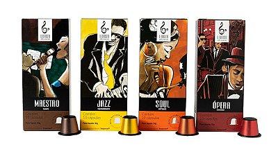 Kit Cápsulas - nossas 4 intensidades de cápsulas de café especial compatíveis com o sistema nespresso.