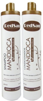Shampoo E Condicionador Mandioca Kit 1lt Redsan Professional