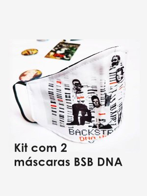 Kit 2 Máscaras de Tecido BSB DNA