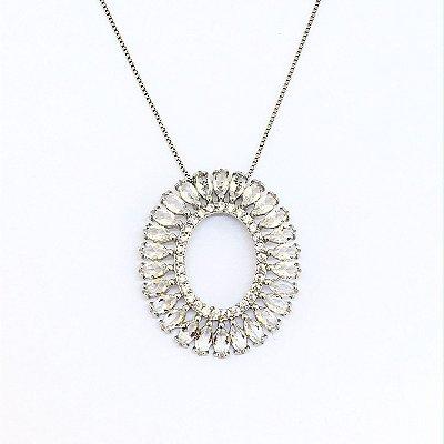 Colar Mandala Navete Cristal