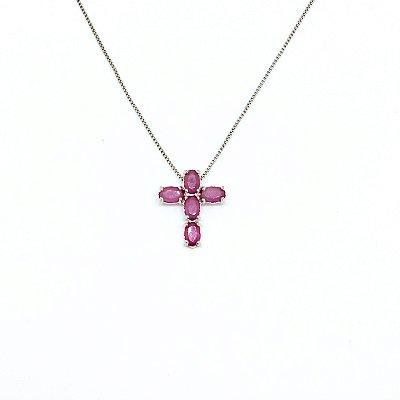 Colar Crucifixo Rubelita