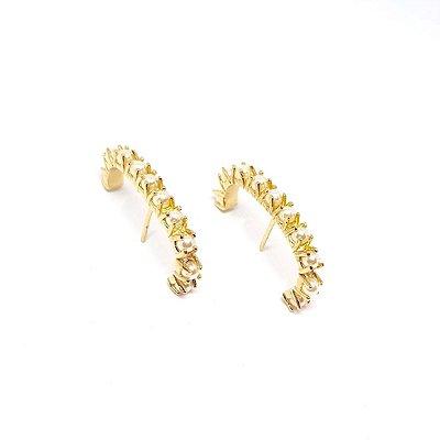 Earhook pérola ouro