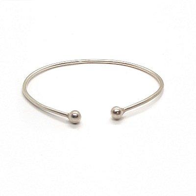 Bracelete 2 bolas prata