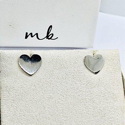 Brinco de coração prata