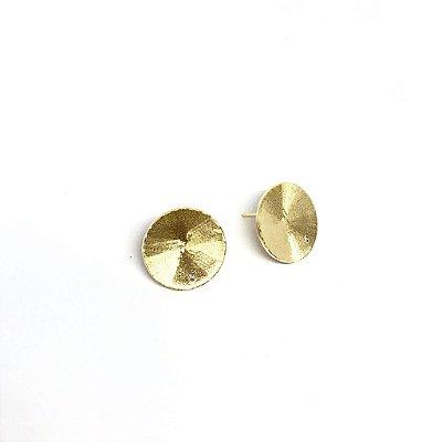 Brinco círculo recriar ouro