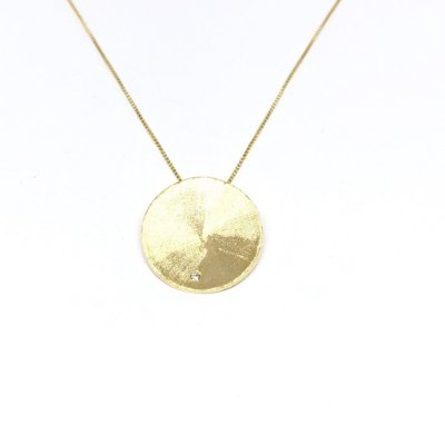 Colar círculo recriar ouro