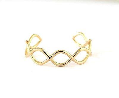 Bracelete Curvas Infinitas Ouro