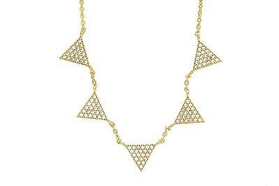 Colar Cinco Triângulos Ouro