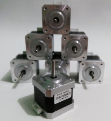 Kit com 5 motores NEMA 17 - Motor de Passo 5 kgf