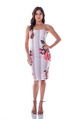 Vestido Alcinha Floral - Rosa