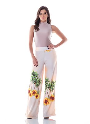 Calça Pantalona Floral