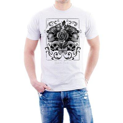 Camiseta Cool Cat Dark Roses