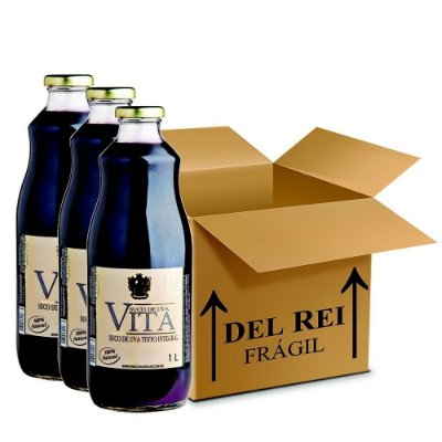 Suco De Uva Vita Tinto Integral 1l - Box Com 120 Unidades