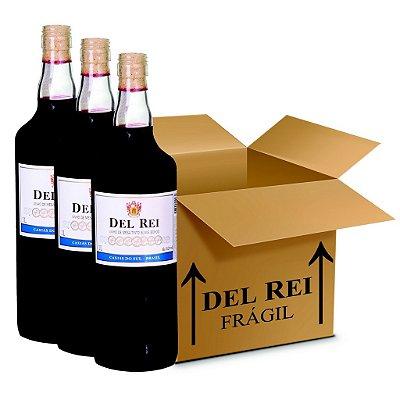 Vinho Colonial Del Rei Tinto Suave Bordo 1l - Box Com 120 Unidades