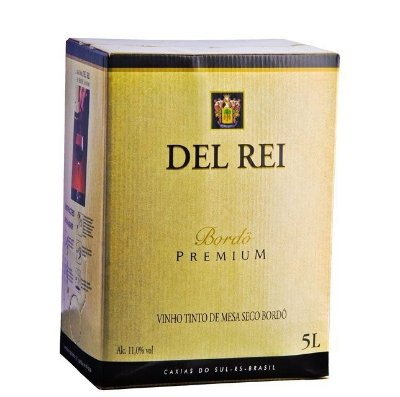 Vinho Del Rei Tinto Seco Bordo Bag In Box 5 L