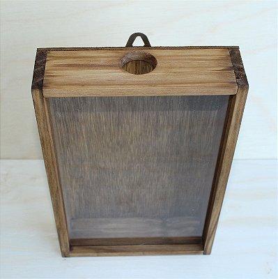 Quadro de Madeira Porta Rolhas de Vinho - 36x23x7cm