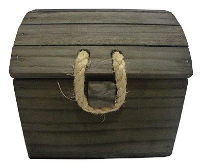 Baú de Madeira Quadrado - Grátis a palha para acomodar os seus produtos!