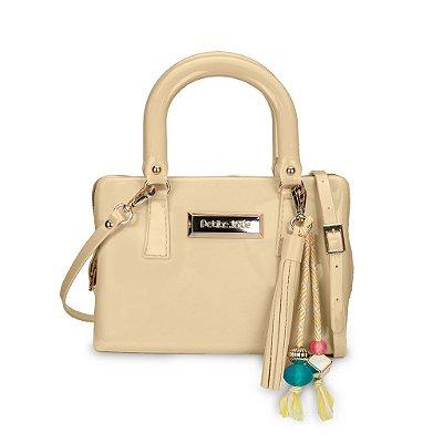Bolsa Mini Bag Nude com Barbicacho Petite Jolie