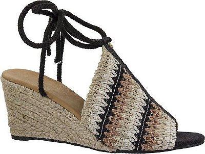Sandália de Crochê com Amarração Arez