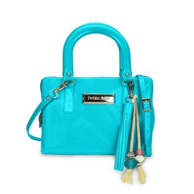Bolsa Mini Bag Azul Turquesa com Barbicacho Petite Jolie
