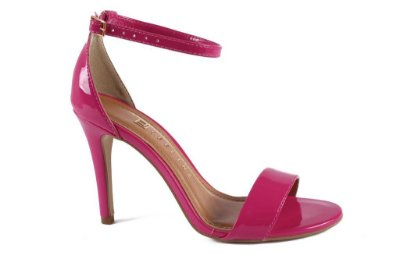 Sandália Verniz Pink Salto Fino Offline