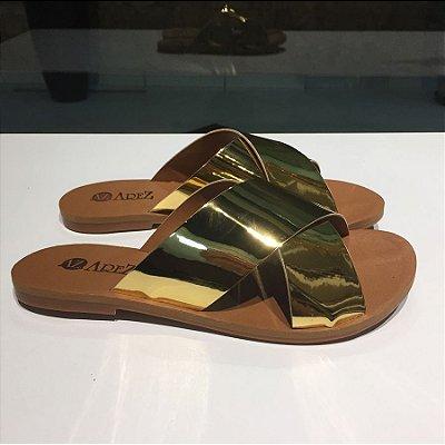 Rasteira Cruzada Specchio Ouro Arez