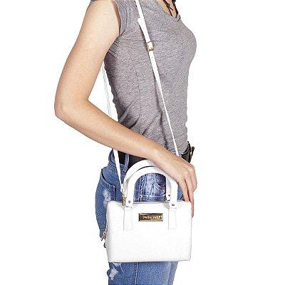 Bolsa Mini Bag Branca Petite Jolie