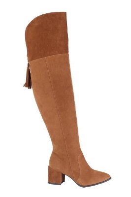 Bota Over The Knee Caramelo Lia Line
