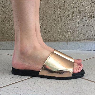 Slide Metalic Champagne Sua Cia