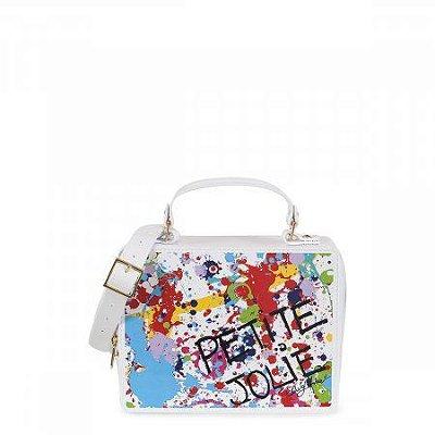 Bolsa Box Bag Branca com Estampa Petite Jolie