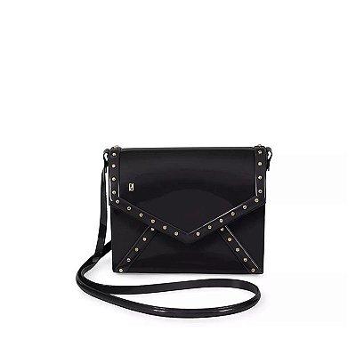 Bolsa Flap Bag com Tachas Petite Jolie