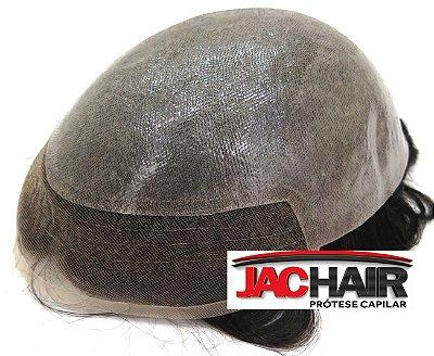 Jac-15 Protese Capilar Silicone Com Tela Na Frente Jachair SEM  KIT MANUTENÇÃO