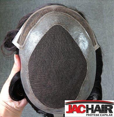 Jac 50 20x25  Protese Capilar Masculina Tela Na Frente Jachair COM KIT MANUTENÇÃO