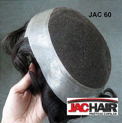 Jac - 60 Protese Capilar Micropele Finissima C/  (tela) 17x25 cm + KIT MANUTENÇÃO