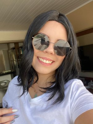 Half Wig Ondulada Marie + Touca + Creme Manutenção Jachair