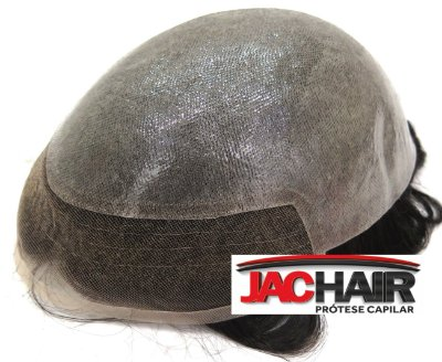 Jac-15 Protese Capilar Silicone Com Tela Na Frente Jachair + KIT MANUTENÇÃO