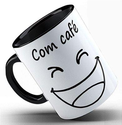 Caneca Com e sem café