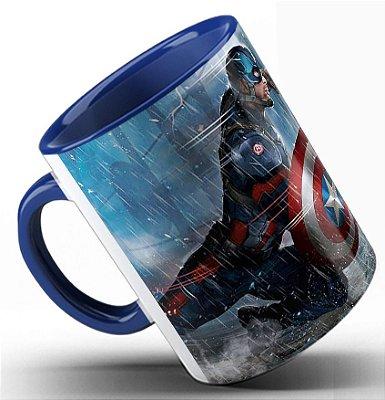 Caneca Capitão América vs Homem de Ferro