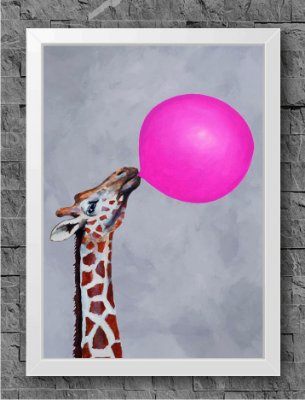 Quadro Chiclete Girafa (1)