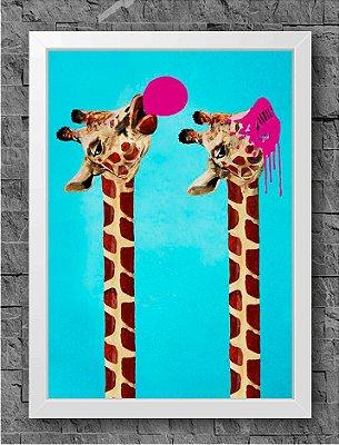 Quadro Chiclete Girafa (2)