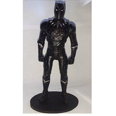 Boneco Pantera Negra -  Herois Marvel Comics Avengers -  Resina
