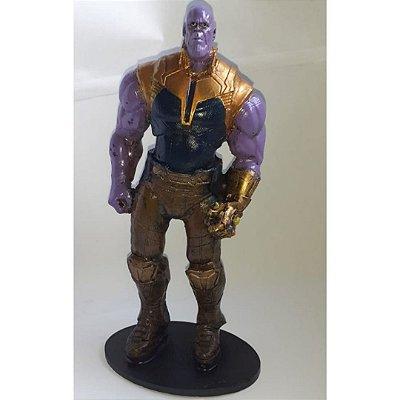Boneco Thanos -  Marvel Vingadores Ultimato -  Em Resina