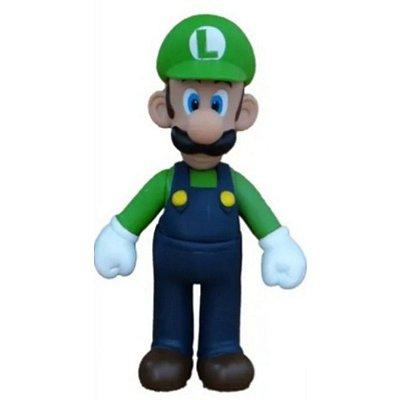 Boneco Luigi - Super Mario Bros -  colecionável