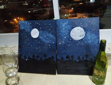 Pinte a tela Noite