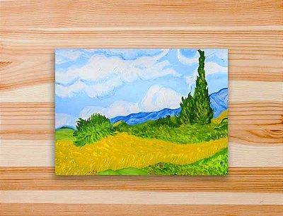 Pinte a tela Campo de Trigo