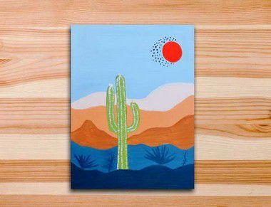 Pinte a tela Cactus