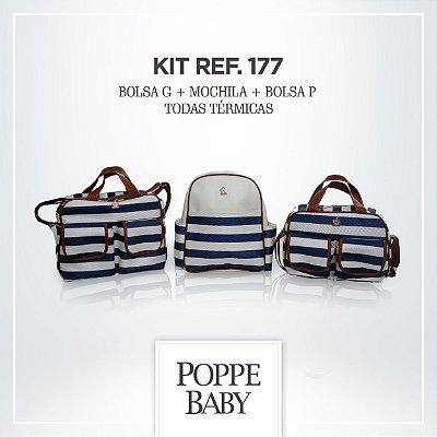 6c931b58b Compre Agora. Kit Poppe Baby Listras Marinho