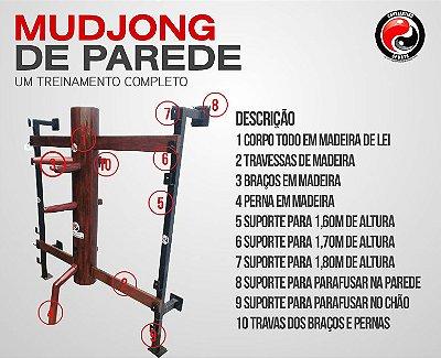MUDJONG DE PAREDE WING CHUN - CORPO EM POLIPROPILENO